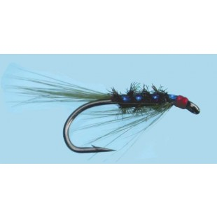 Turrall Slim-Line Nymph Diawl Bach Holo Olive Size 10