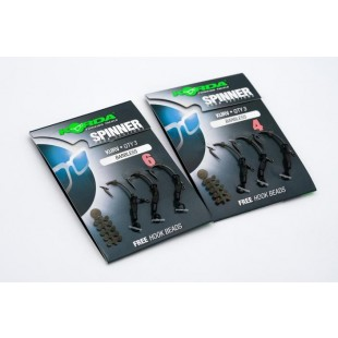 Korda Spinner Hook Sections Kurv Barbless with free hook beads