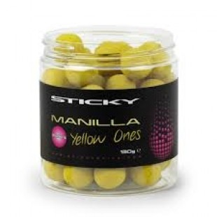 Sticky Baits Manilla Yellow One's Pop Up's Wafters 130g