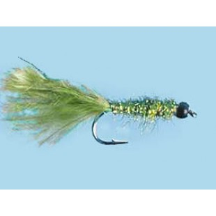 Turrall Tungsten Bead Hd Damsel-Olive - Size 10