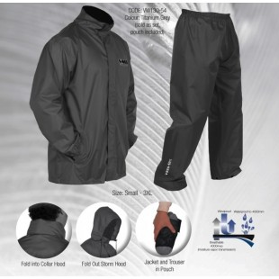 Vass-Tex 'Light' Packaway Waterproof/Breathable Jacket and Trouser Set