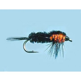 Turrall Weighted Nymph Montana Orange - Size 10
