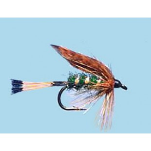 Turrall Wet Winged Grouse & Green - Size 12