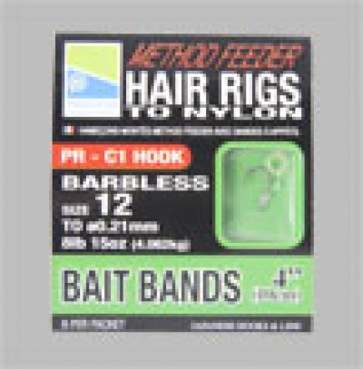 method hair rig with bait bands