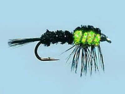 Turrall Weighted Nymph Montana Flu.Green - Size 10