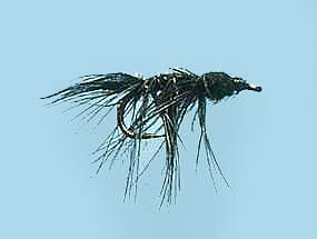 Turrall slim line nymph black size 12 reel fishing for Slime line fishing line